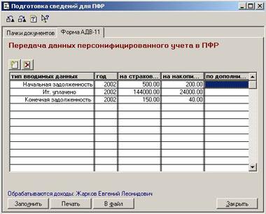 Рекомендации по сдаче годовой отчетности в ПФР в программах 1С