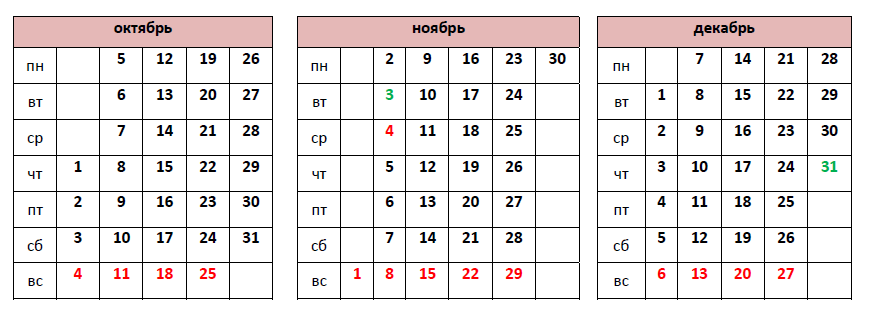 Производственный календарь на 2015 год