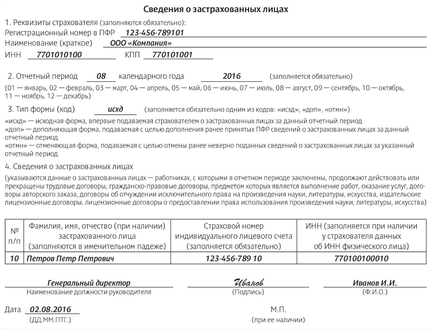 Ежемесячная отчетность в ПФР в 2016 году по форме СЗВ-М