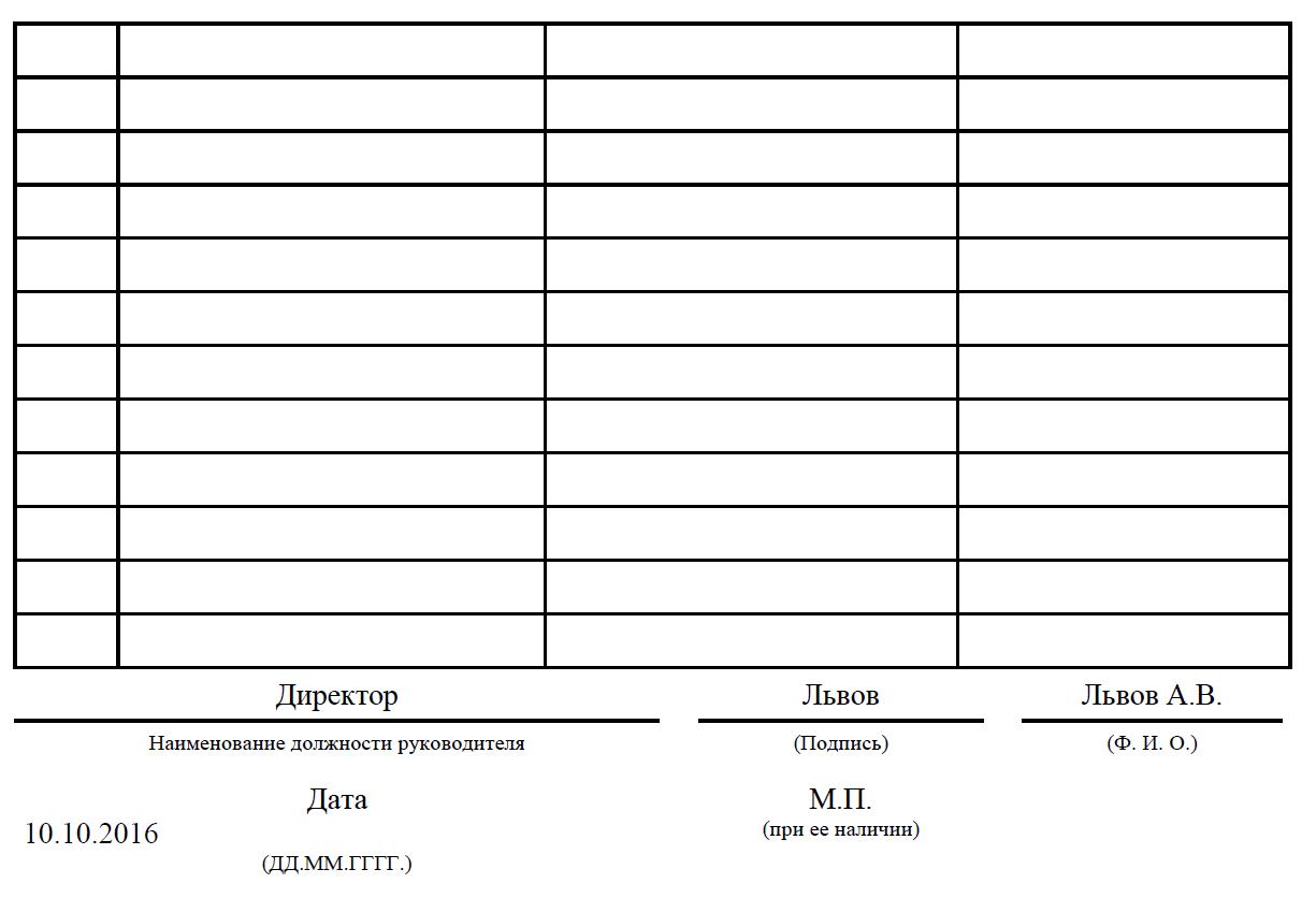 образец заполнения формы оп 17