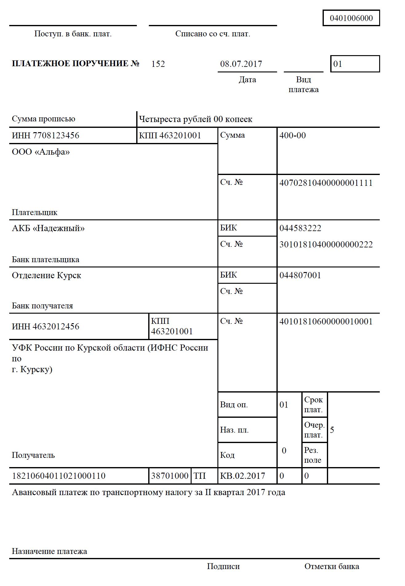 Транспортный налог в 2019 году для юридических и физических лиц