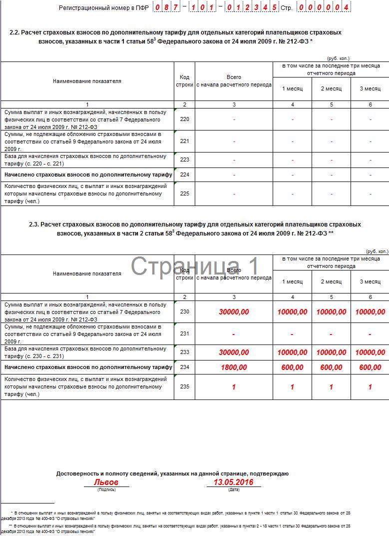 заполнения формы РСВ-1 ПФР в 2016 году 4