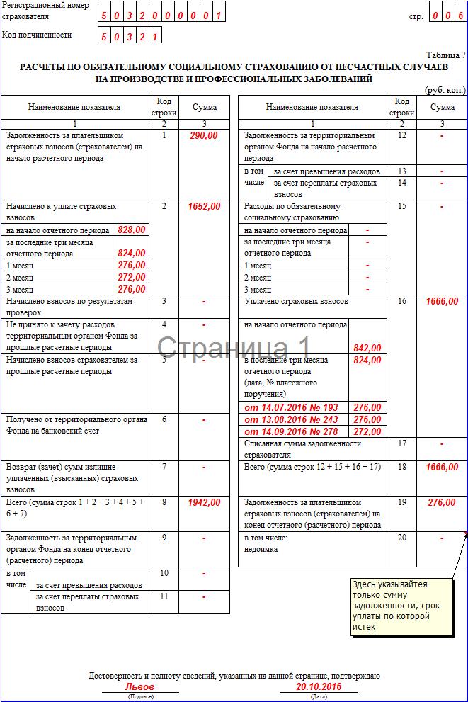 ФСС за 3 квартал 2016 года: новая форма