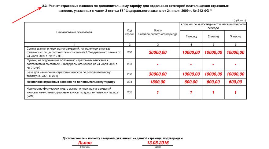 РСВ-1 за 2 квартал 2016 года бланк скачать