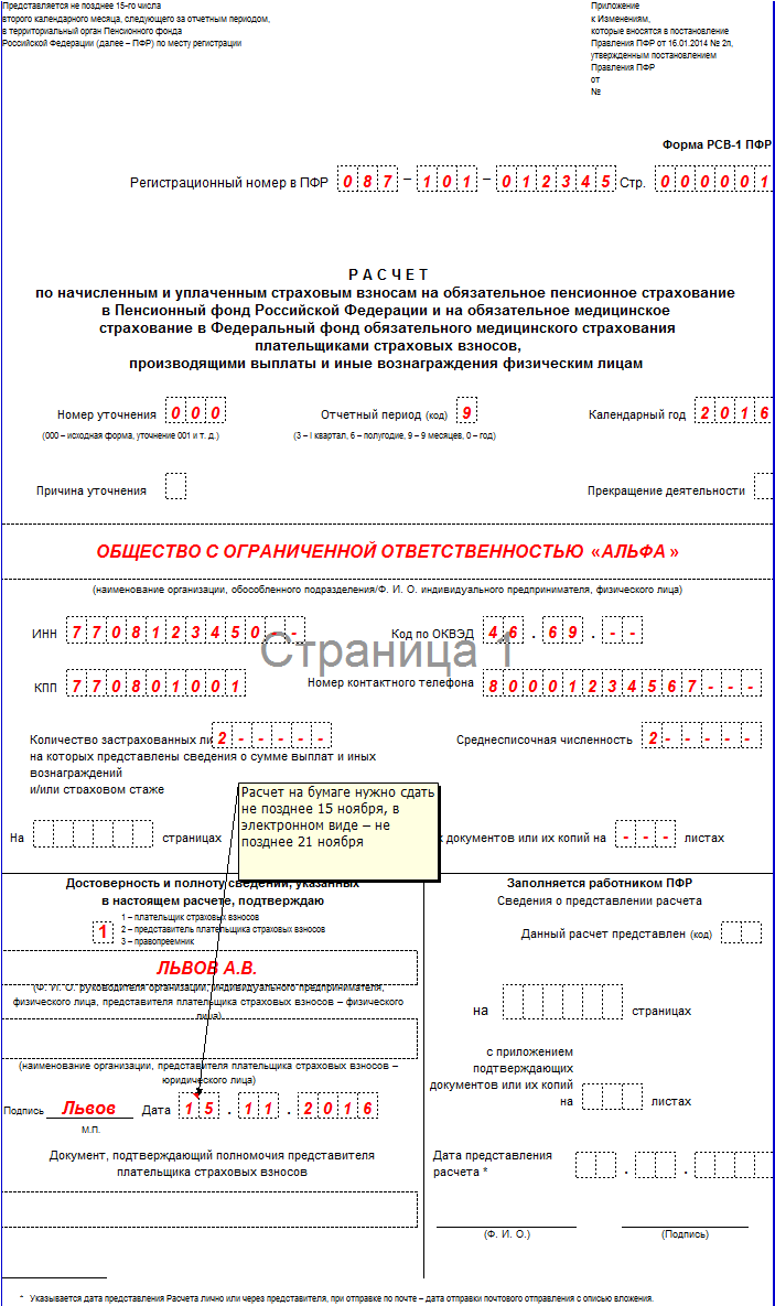 Форма РСВ-1 ПФР: бланк, инструкция, изменения