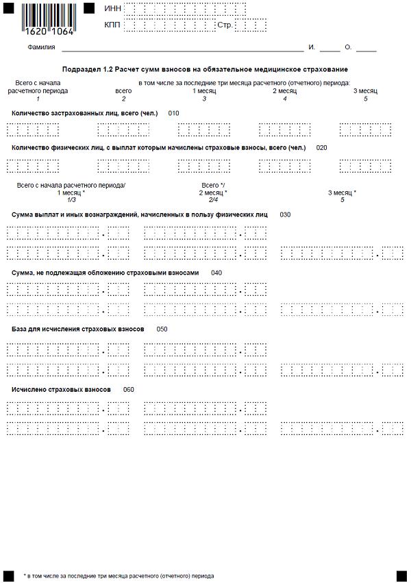 Как заполнить приложение 1 Раздела 1 расчета по страховым взносам с 2017 года
