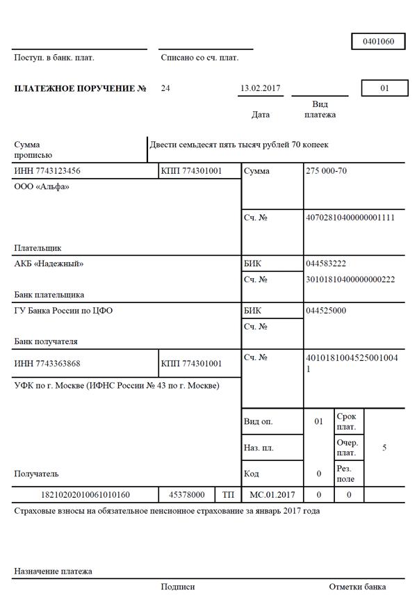 сроки уплаты взносов в пфр 2017 для ип
