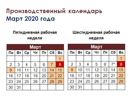Выходные в марте 2020 как отдыхаем