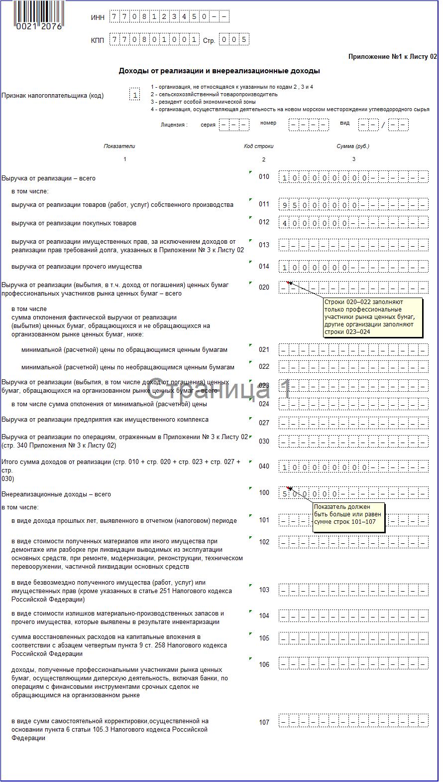 Налоговая декларация по налогу на прибыль: бланк, порядок заполнения, образец