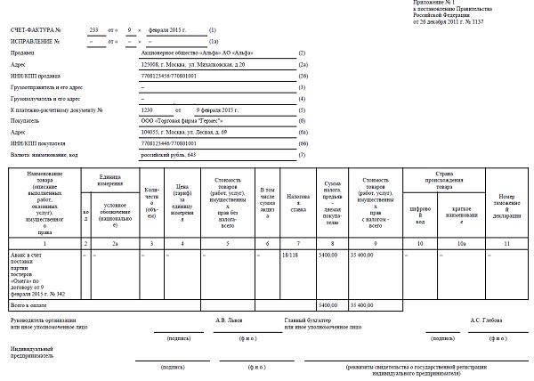 НДС  с авансов полученных в 2017 году изменения
