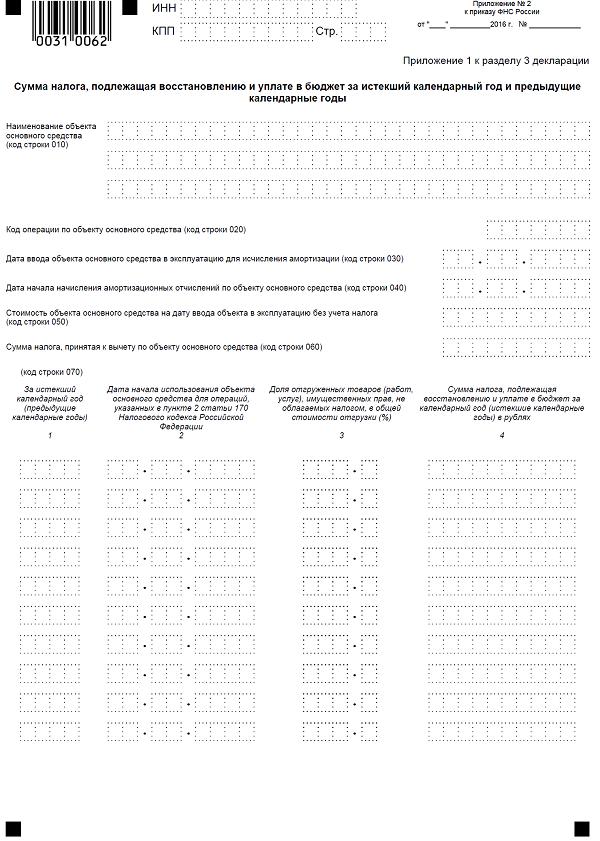 Новая форма декларации по НДС с 2017 года
