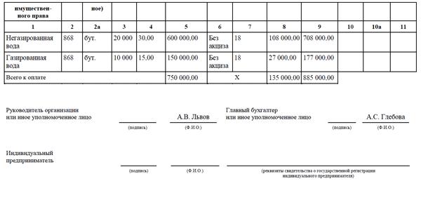 новая форма счет-фактуры с 2017 года