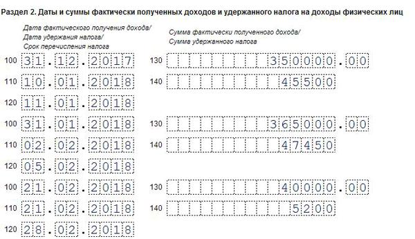 6-ндфл заполнение инструкция строка 130 с примером