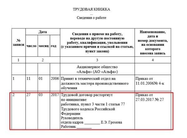 Трудовой договор увольнение по собственному желанию услуга по заполнению декларации 3 ндфл цена
