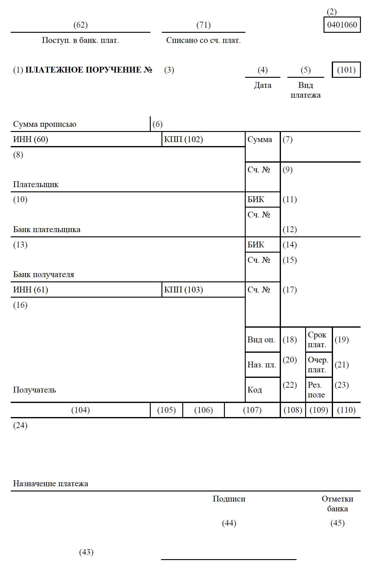 Первичные документы бухгалтерского учета