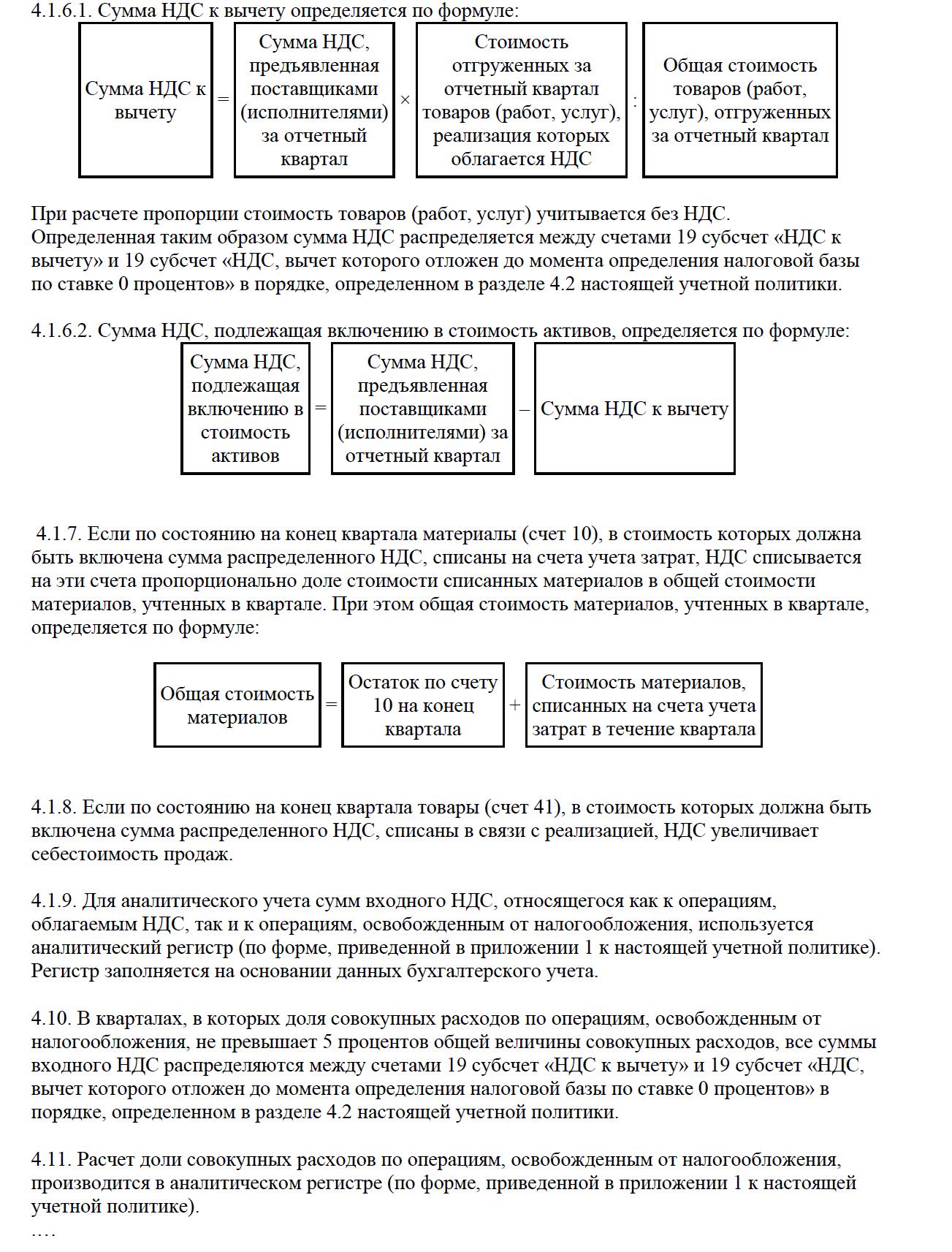 Раздельный учет НДС: порядок, документы, учетная политика