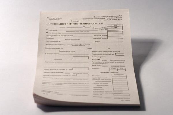 С 1 января 2021 года изменятся правила заполнения путевых листов в РФ